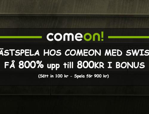 Spela anonymt hos ComeOn – Ingen registrering och blixtsnabba uttag med Swish