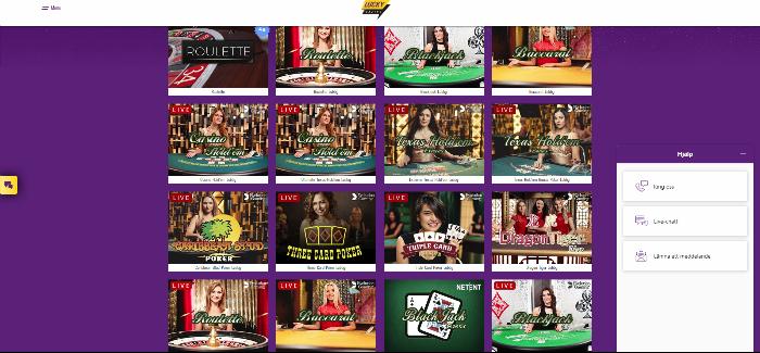 Lucky casino live