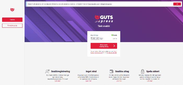 Gutsxpress casino framsida