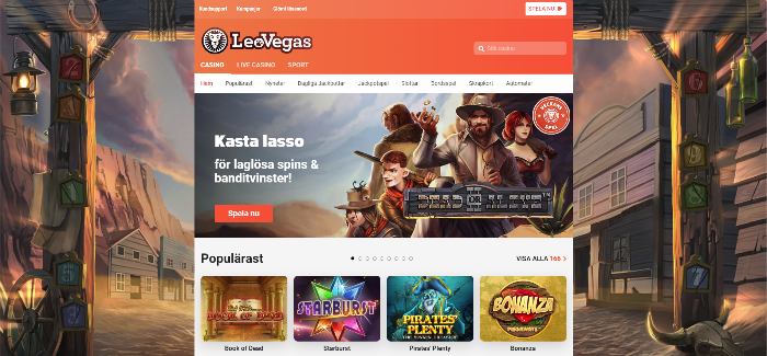 Leovegas casino framsida
