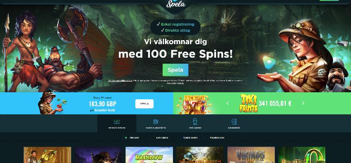 Spela.com casino framsida
